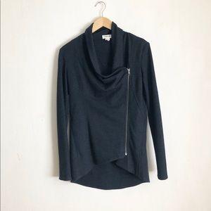 Helmut lang black jackets S asymmetrical zippered
